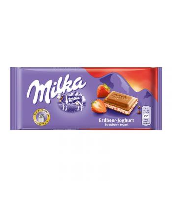 Milka Strawberry Yoghurt - 100g (EU) Sweets and Candy Milka