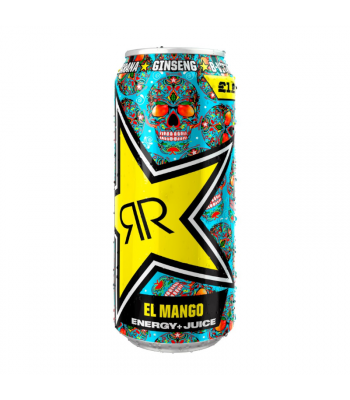 Rockstar Baja Juiced El Mango Energy Drink - 500ml (EU) Soda and Drinks