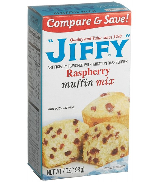 Jiffy Raspberry Muffin Mix 7oz (198g) Baking & Cooking Jiffy