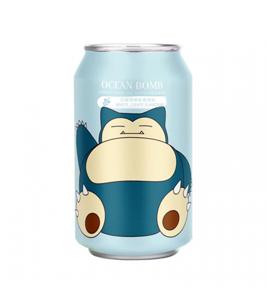 Ocean Bomb Pokemon Snorlax Grape Flavour Sparkling Water - 12fl.oz (355ml) Soda and Drinks