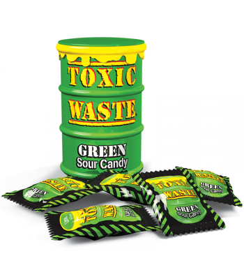 Toxic Waste Green Drum Extreme Sour Candy 1.5oz (42g)