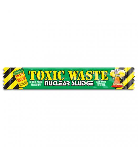 Toxic Waste Nuclear Sludge Chew Bar Green Apple 0.7oz (20g) Soft Candy