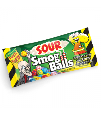 Toxic Waste Smog Balls Sour Candy (48g) Soft Candy